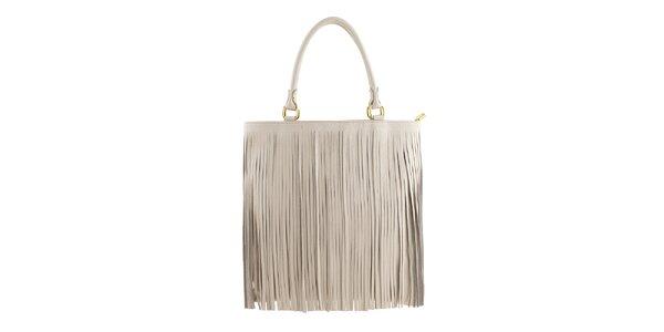 Dámska krémovo biela kabelka so strapcami Valentina Italy