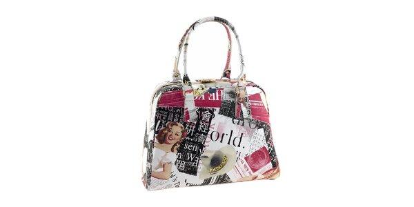 Dámska kufríková kabelka s farebnou potlačou Valentina Italy