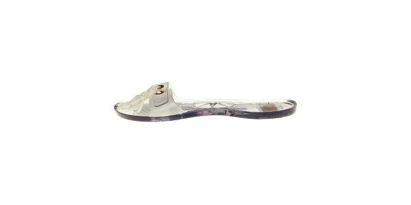Dámske transparentné šľapky Mel so strapcami