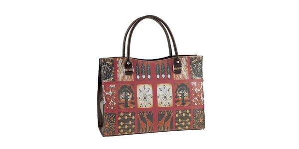 Dámska kabelka s africkou potlačou Valentina Italy