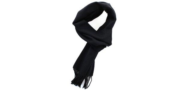 Dámsky čierny vlnený šál Fraas