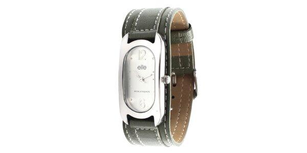 Dámske hodinky so zeleným remienkom Elite
