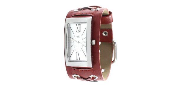Dámske hodinky s červeným remienkom Elite