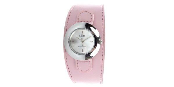 Dámske hodinky s ružovým remienkom Elite