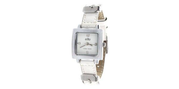 Dámske minimalistické hodinky s bielym remienkom Elite