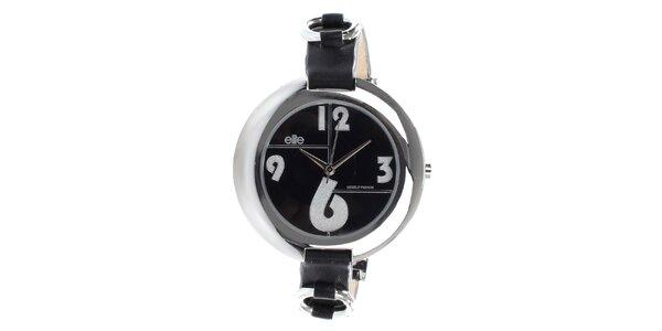 Dámske hodinky s čiernym ciferníkom Elite