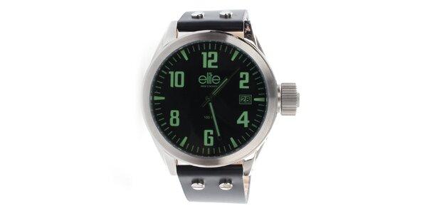 Pánske hodinky so zelenými indexmi Elite