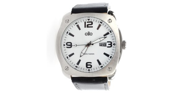 Pánske hodinky s bielym ciferníkom Elite
