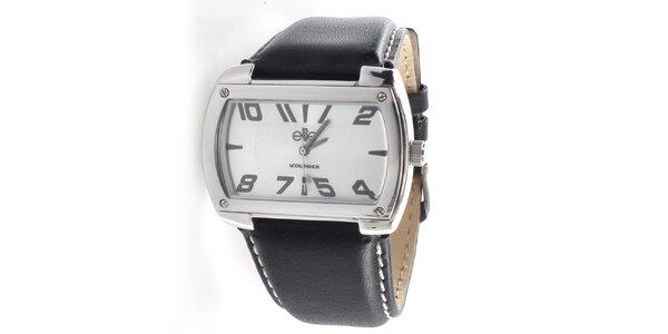 Pánske hodinky s obdĺžnikovým svetlým ciferníkom Elite