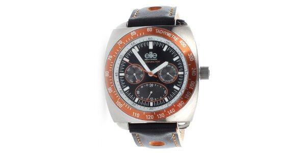 Pánske hodinky s oranžovými detailmi Elite