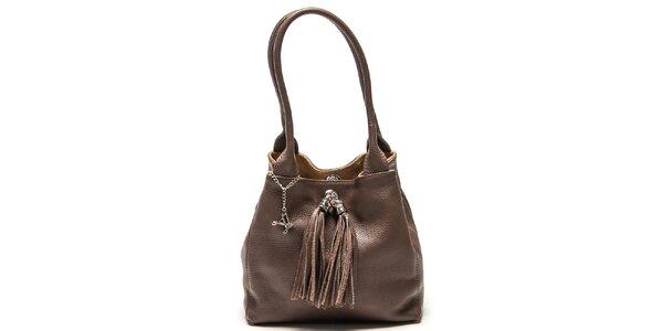Dámska kožená taška so strapcami Luisa Vannini
