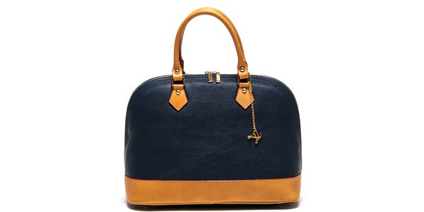 Dámska tmavomodrá kabelka s príveskom Luisa Vannini