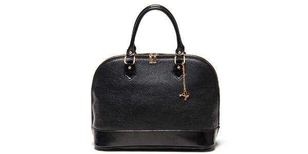 Dámska čierna kabelka s príveskom Luisa Vannini