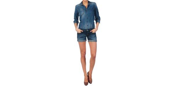 Dámsky džínsový set Nolita - šortky a košeľa