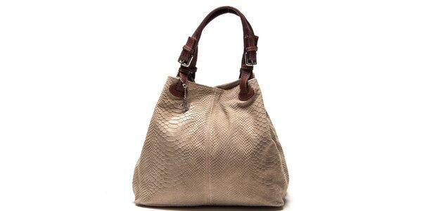 Dámska kožená kabelka so šupinatým vzorom Luisa Vannini