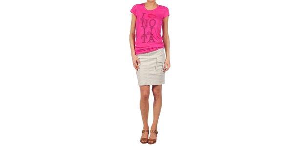 Dámske fuchsiové tričko Nolita s potlačou
