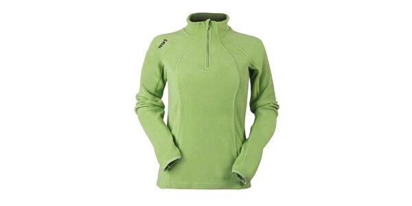 Dámska zelená fleecová mikina Izas