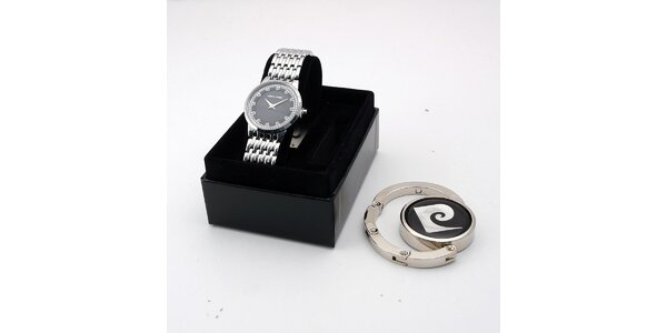 Dámske oceľové hodinky Pierre Cardin s darčekom
