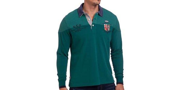 Pánske smaragdové polo tričko Galvanni