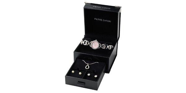 Darčeková sada Pierre Cardin - hodinky s náhrdelníkom a náušnicami