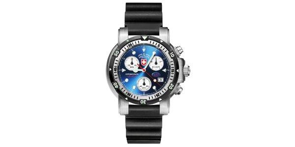 Pánske oceľové hodinky s gumovým remienkom Swiss Military