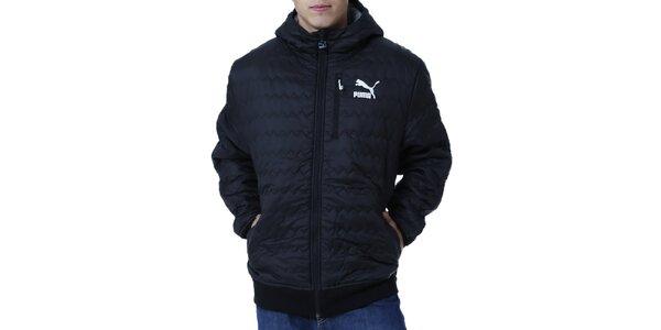 Pánska prešívaná bunda s bielym logom Puma