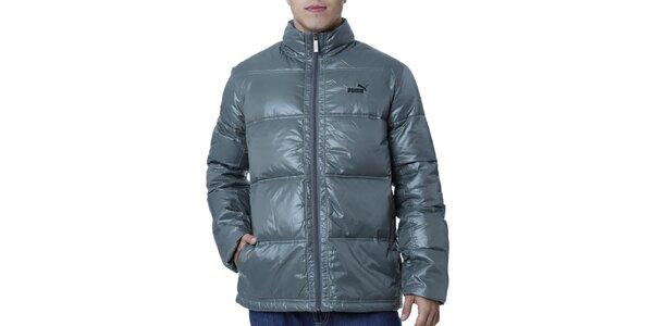 Pánska prešívaná bunda v khaki odtieni Puma