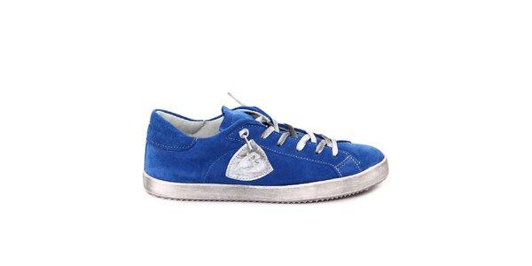 Dámske modré semišové tenisky Nina Morena