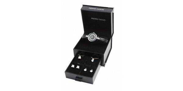 Darčeková sada Pierre Cardin - hodinky s náhrdelníky a náušnicemi