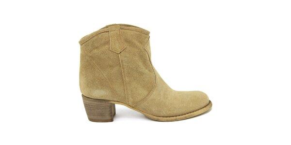 Dámske semišové členkové topánky Nina Morena