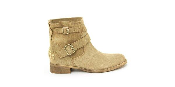 Dámske semišové topánky s prackami Nina Morena