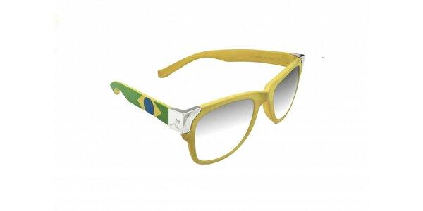 Gumové slnečné okuliare Jumper-s vo farbách brazílskej vlajky