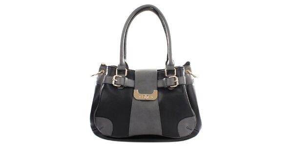 Dámska šedo-čierna kabelka Gessy