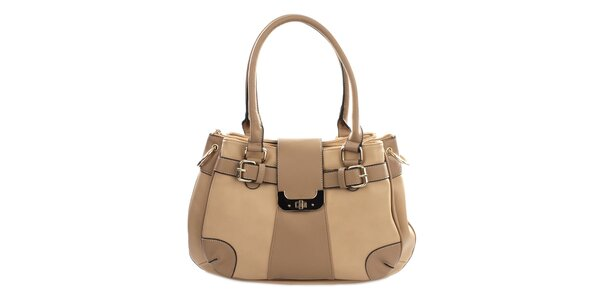 Dámska svetlo hnedá kabelka Gessy