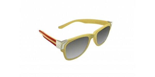 Gumové slnečné okuliare Jumper-s vo farbách španielskej vlajky