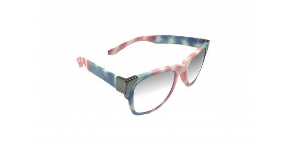 Gumové slnečné okuliare Jumper-s vo farbách americkej vlajky