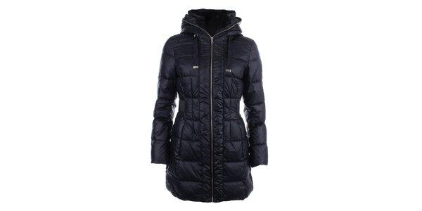 Dámsky tmavomodrý prešívaný kabát na zips Halifax