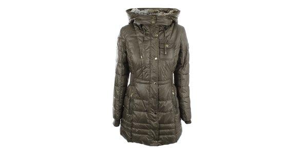 Dámsky predĺžený prešívaný kabát s kapucňou Halifax