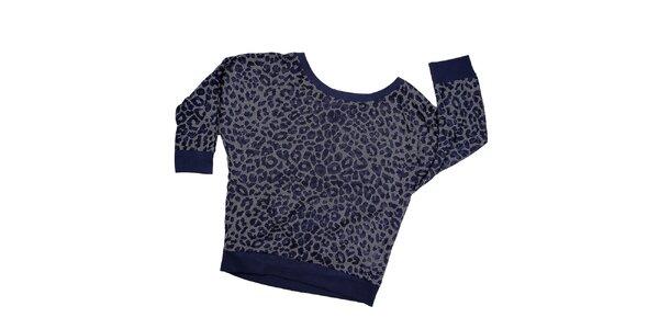 Dámska indigová leopardia mikina Urban Surface 20c4f8c5edc