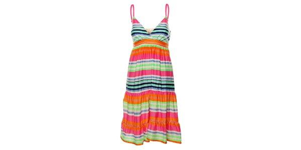 Dámske duhové prúžkované šaty Uttam Boutique
