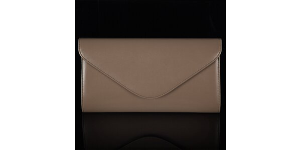 Dámska hnedá listová kabelka Felice