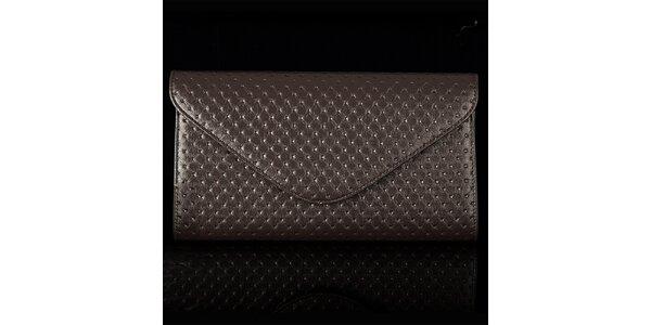 Dámska hnedá vzorovaná listová kabelka Felice