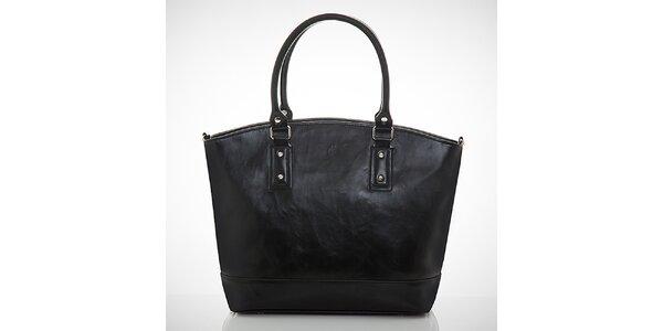 Dámska čierna kabelka s vonkajším vreckom Felice