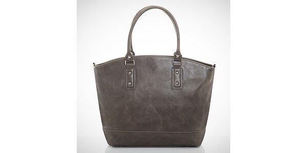 Dámska šedá kabelka z eko kože Felice