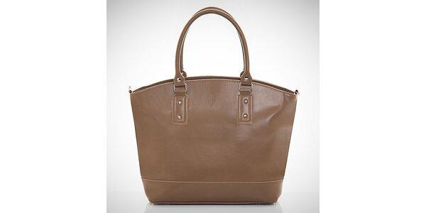 Dámska orieškovo hnedá kabelka z eko kože Felice
