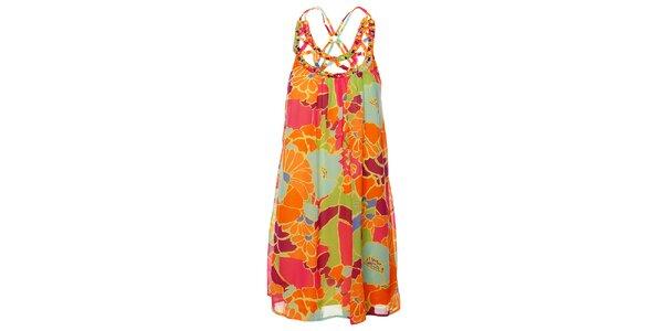Dámske pastelové šaty Uttam Boutique s velkými kvetmi