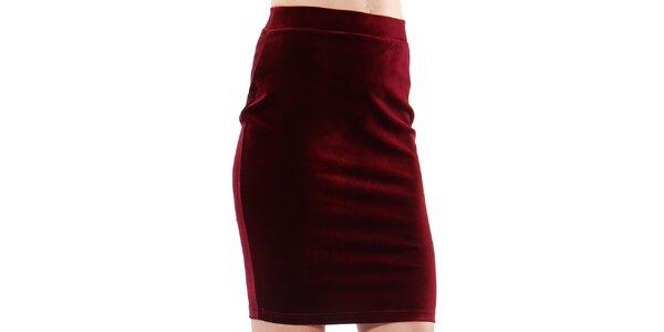 Dámska bordó púzdrová sukňa do pásu Leggsington