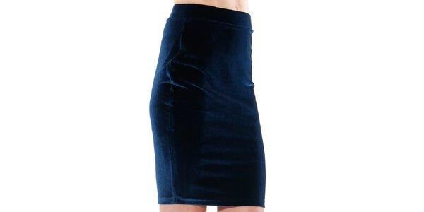 Dámska indigová púzdrová sukňa do pásu Leggsington