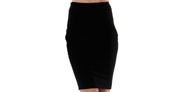 Dámska čierna púzdrová sukňa do pásu Leggsington