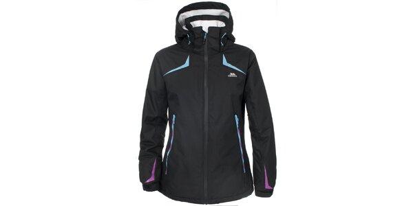 Dámska lyžiarska bunda v čiernej farbe Trespass